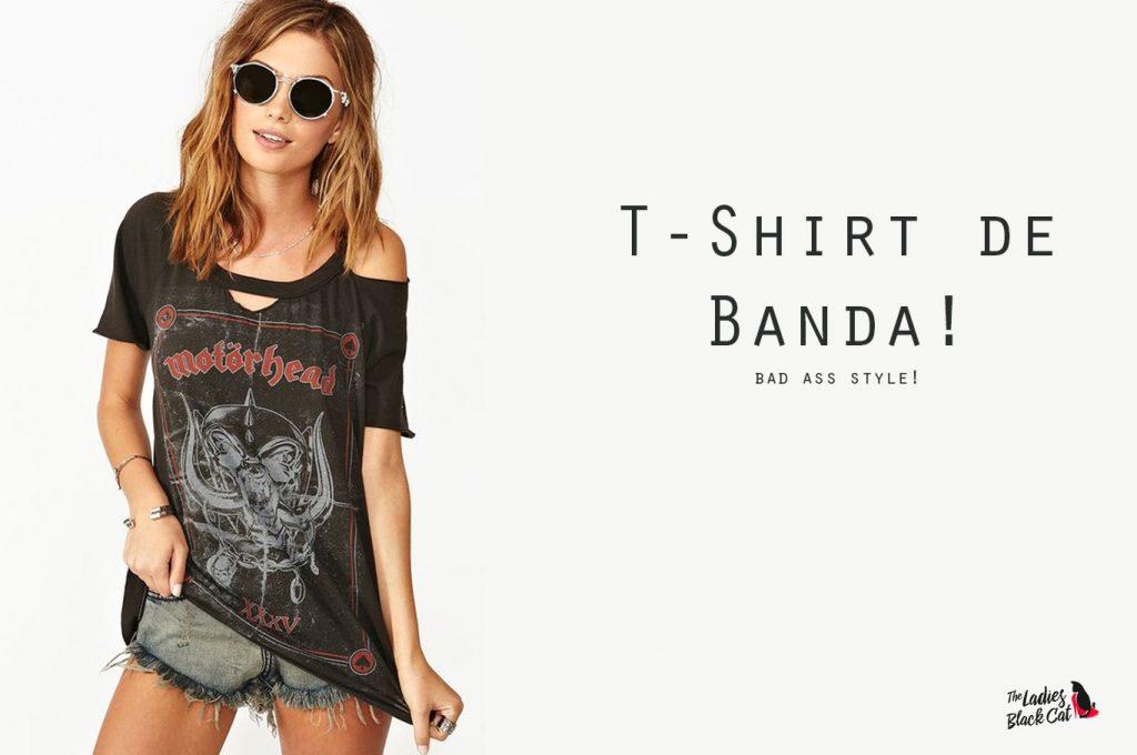 t-shirt de banda